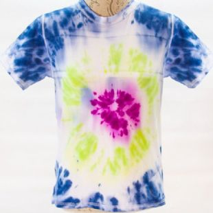Autism Friendly Reversible Cotton Tee - Bright on White Tie Dye - Spectra Sensory Clothing from